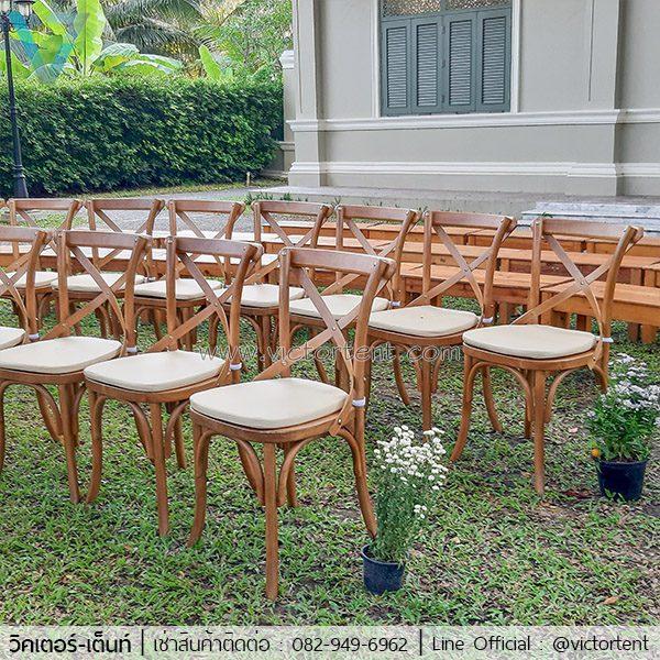 เช่าเก้าอี้ไม้งานแต่งงาน