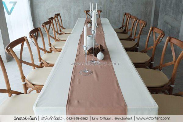 เช่าโต๊ะ เก้าอี้ไม้