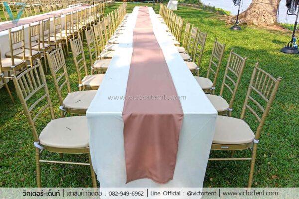 โต๊ะ-เก้าอี้งานแต่งให้เช่า